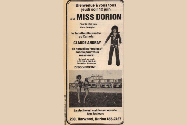 Un effeuilleur-mâle au Miss Dorion