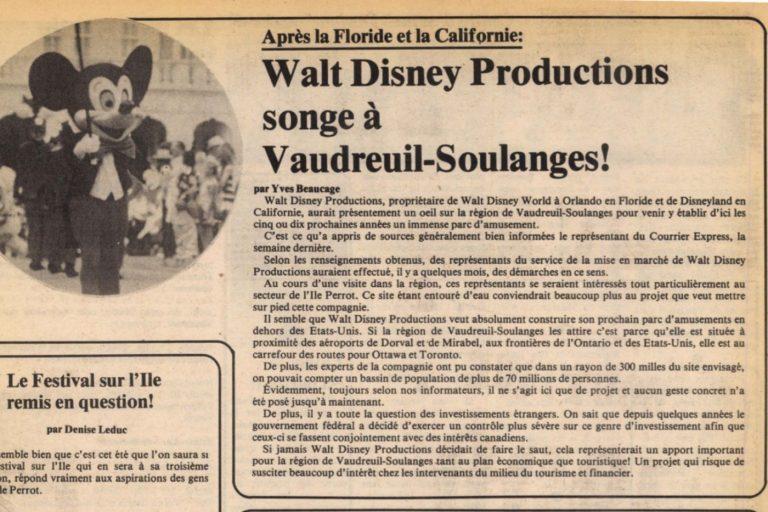 Walt Disney à L'Île-Perrot
